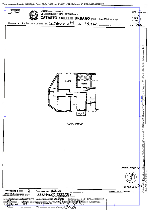Planimetria 1/2 per rif. 1128