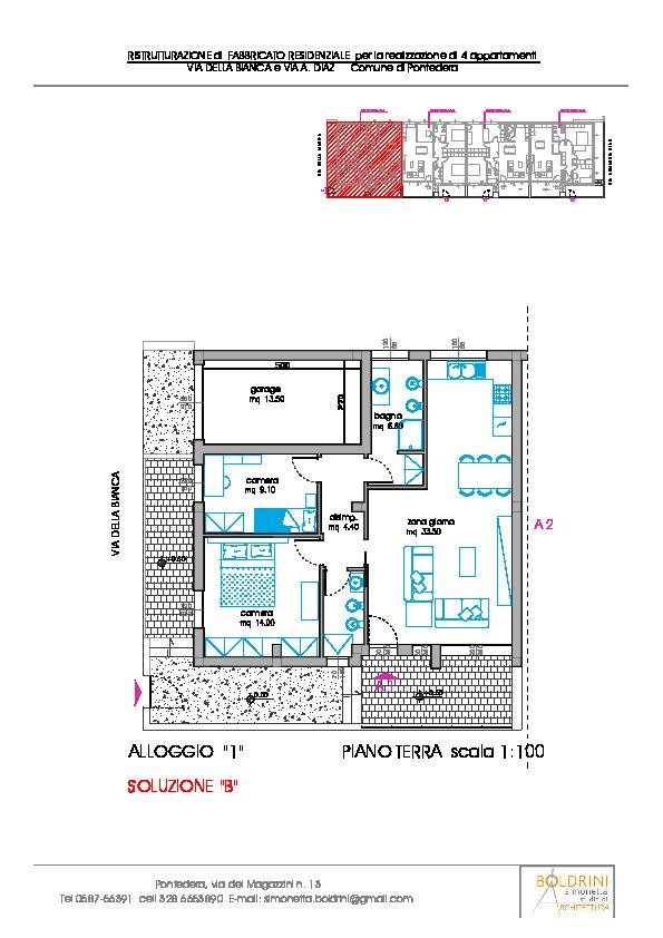 Planimetria 2/2 per rif. 1129