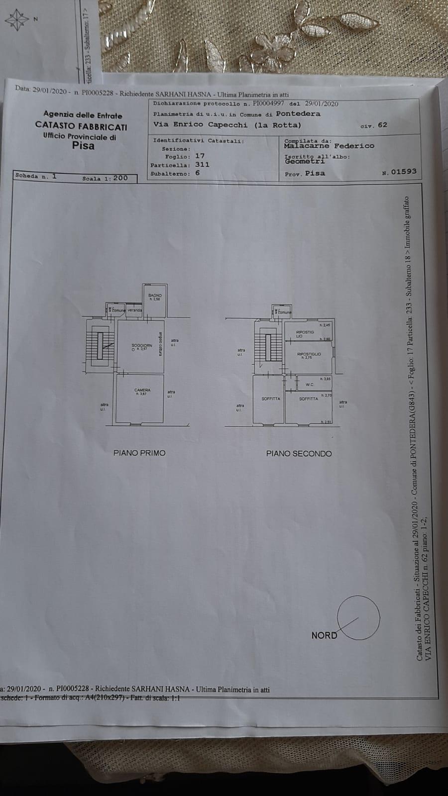 Planimetria 1/1 per rif. 1133