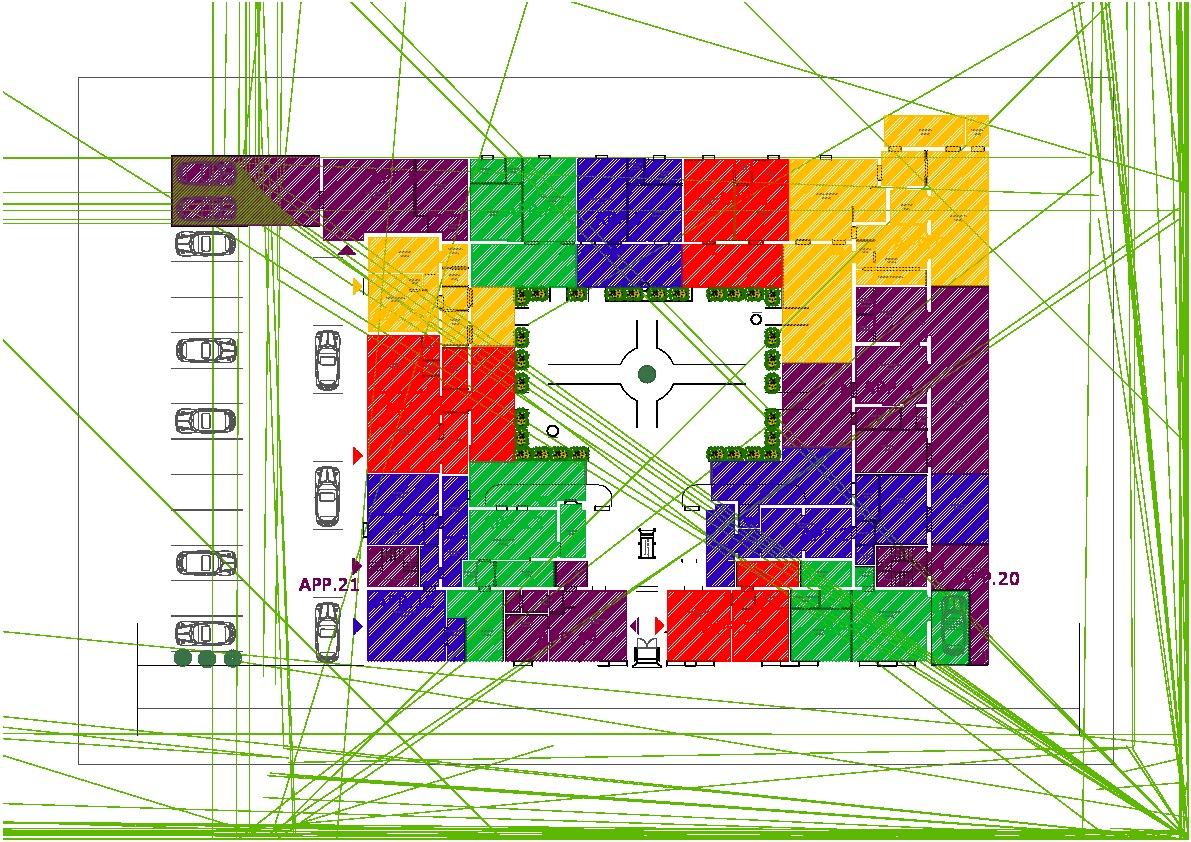 Planimetria 3/4 per rif. 612