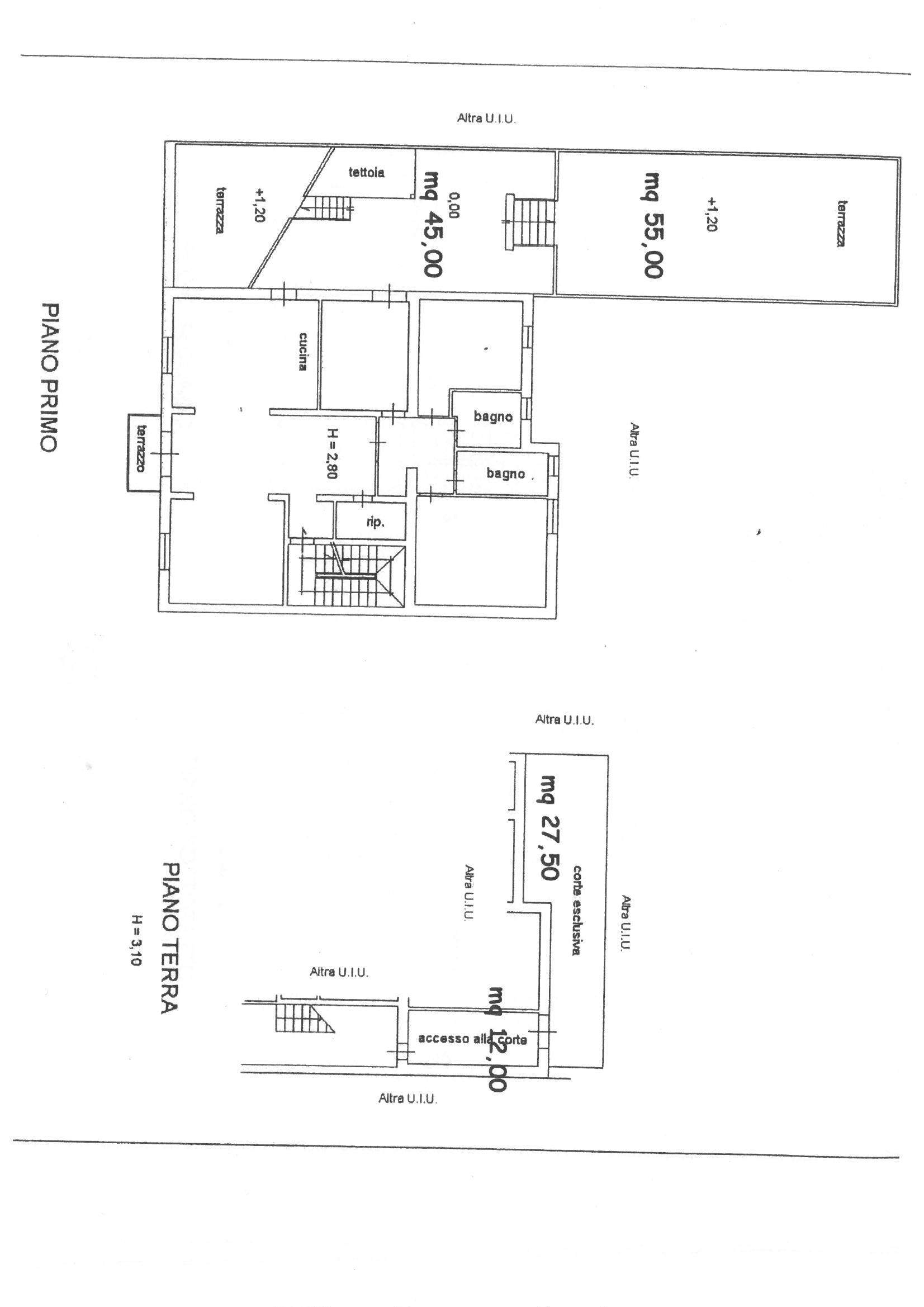 Planimetria 1/1 per rif. 638