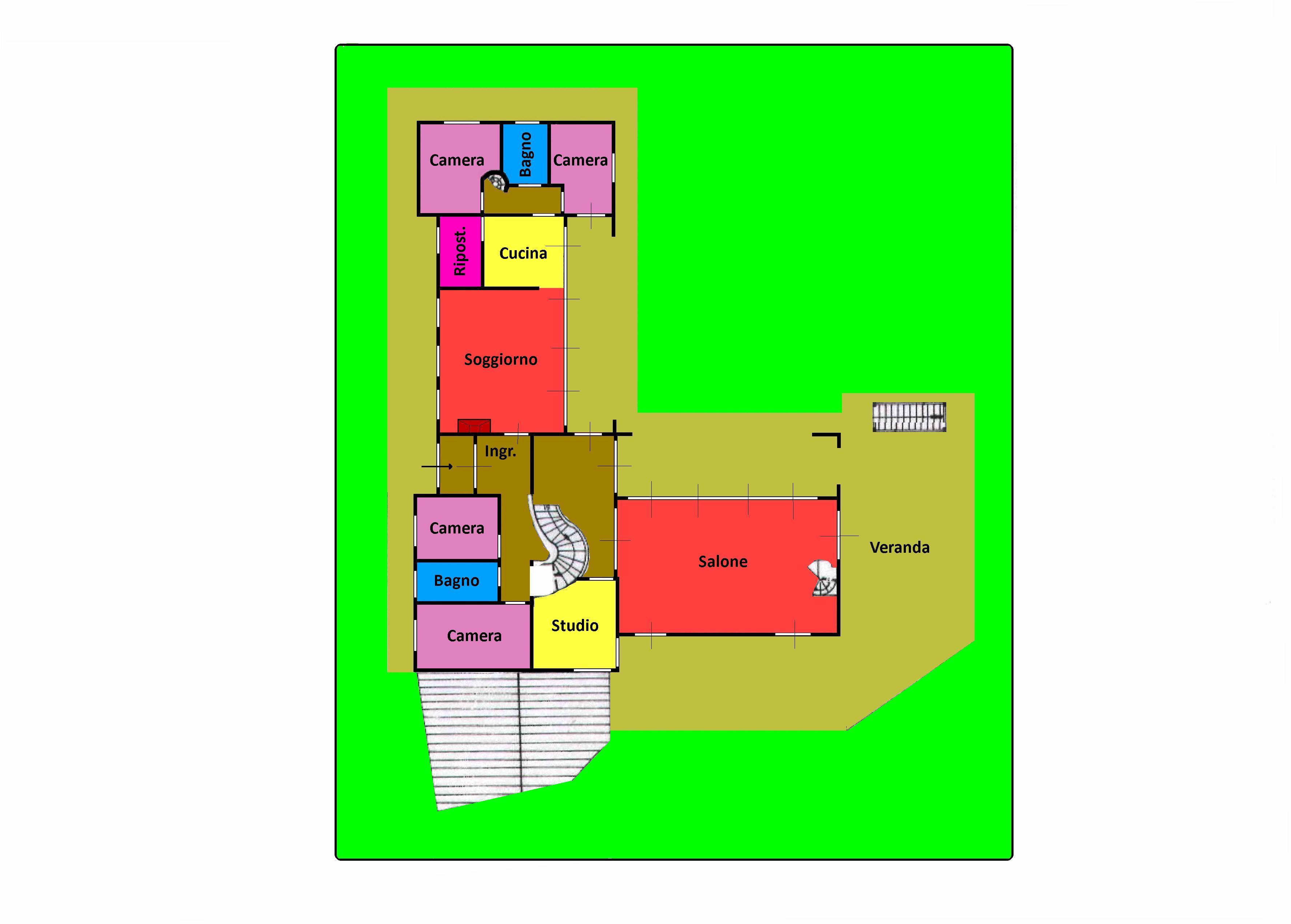 Planimetria 1/2 per rif. 707