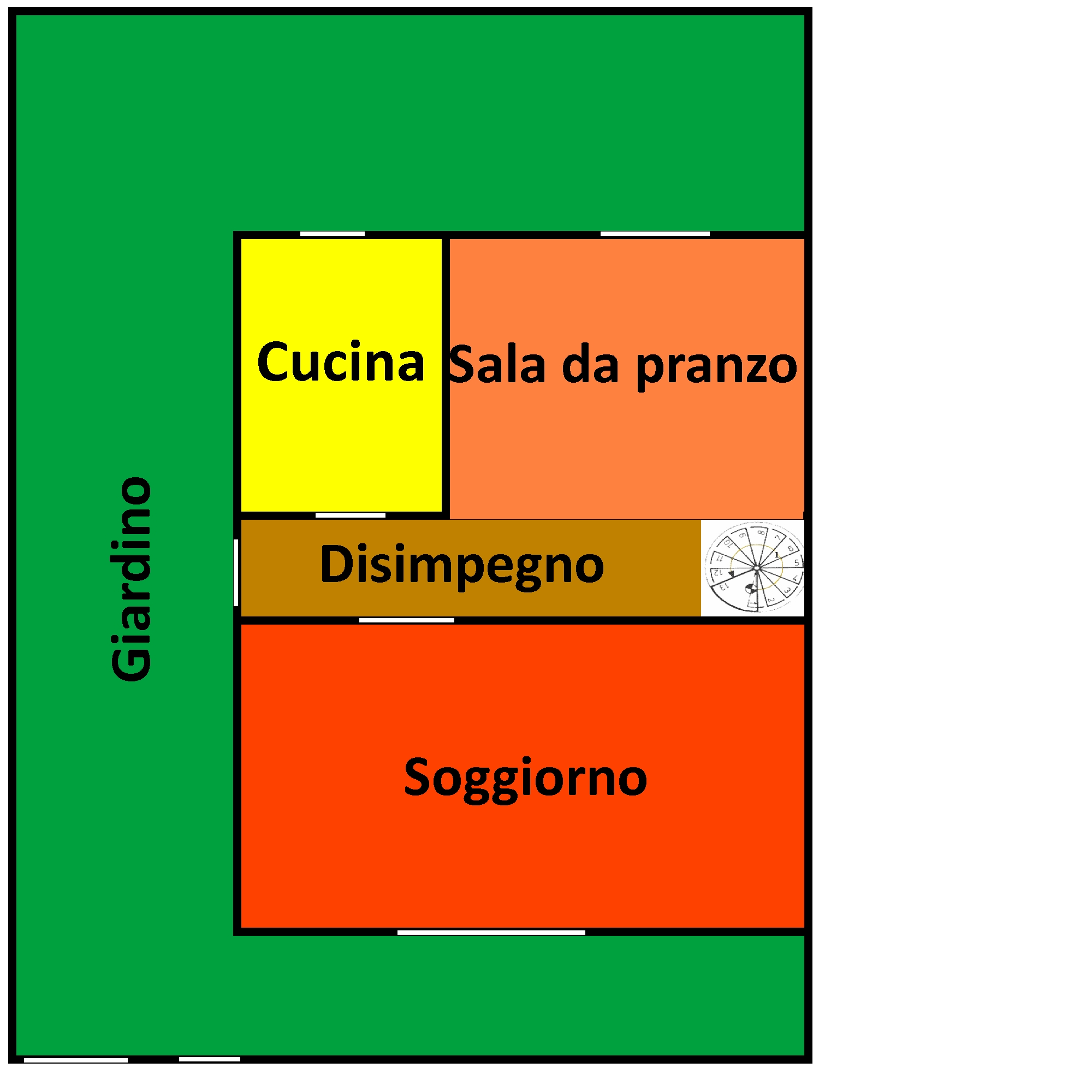 Planimetria 1/2 per rif. 348