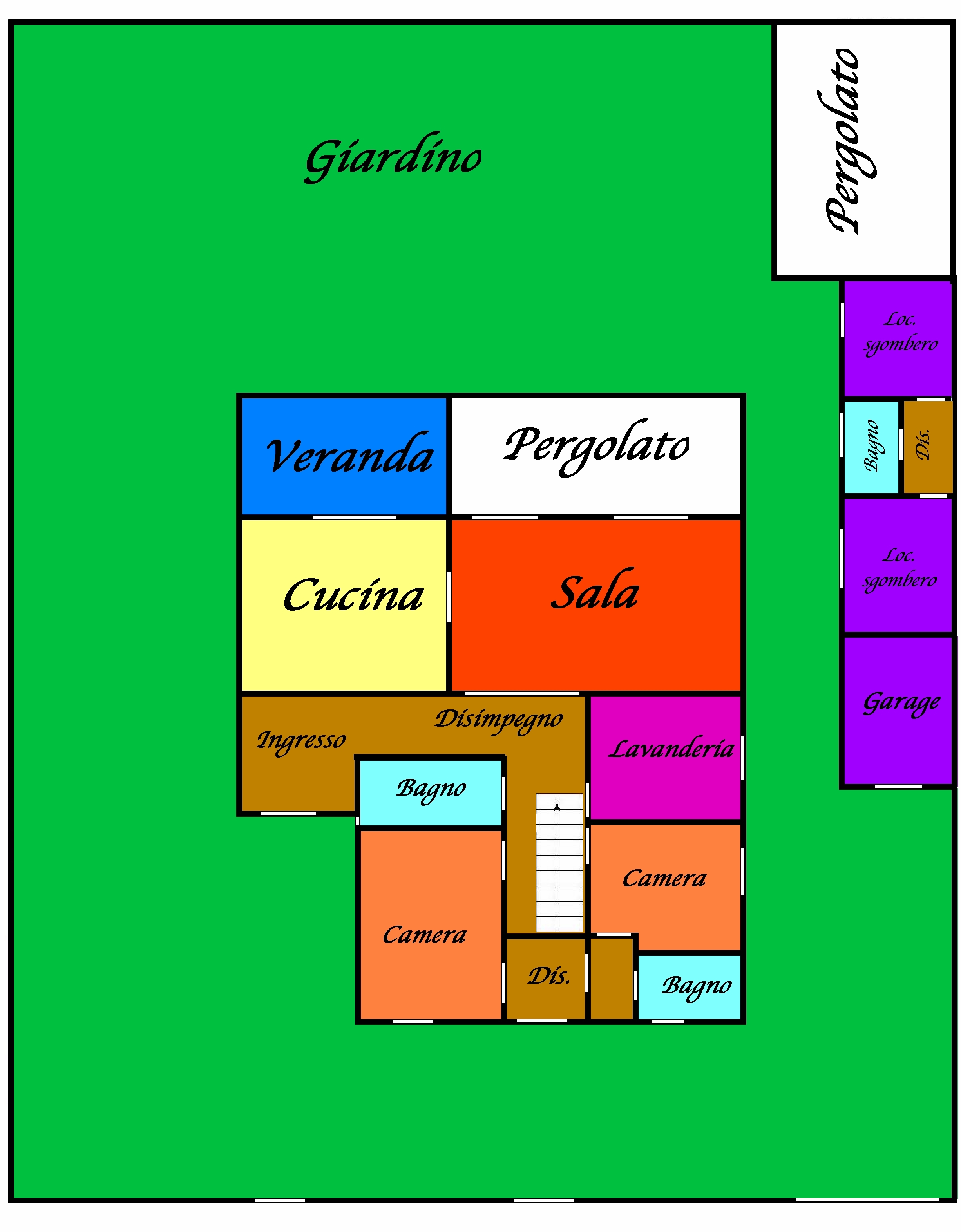 Planimetria 4/4 per rif. 768