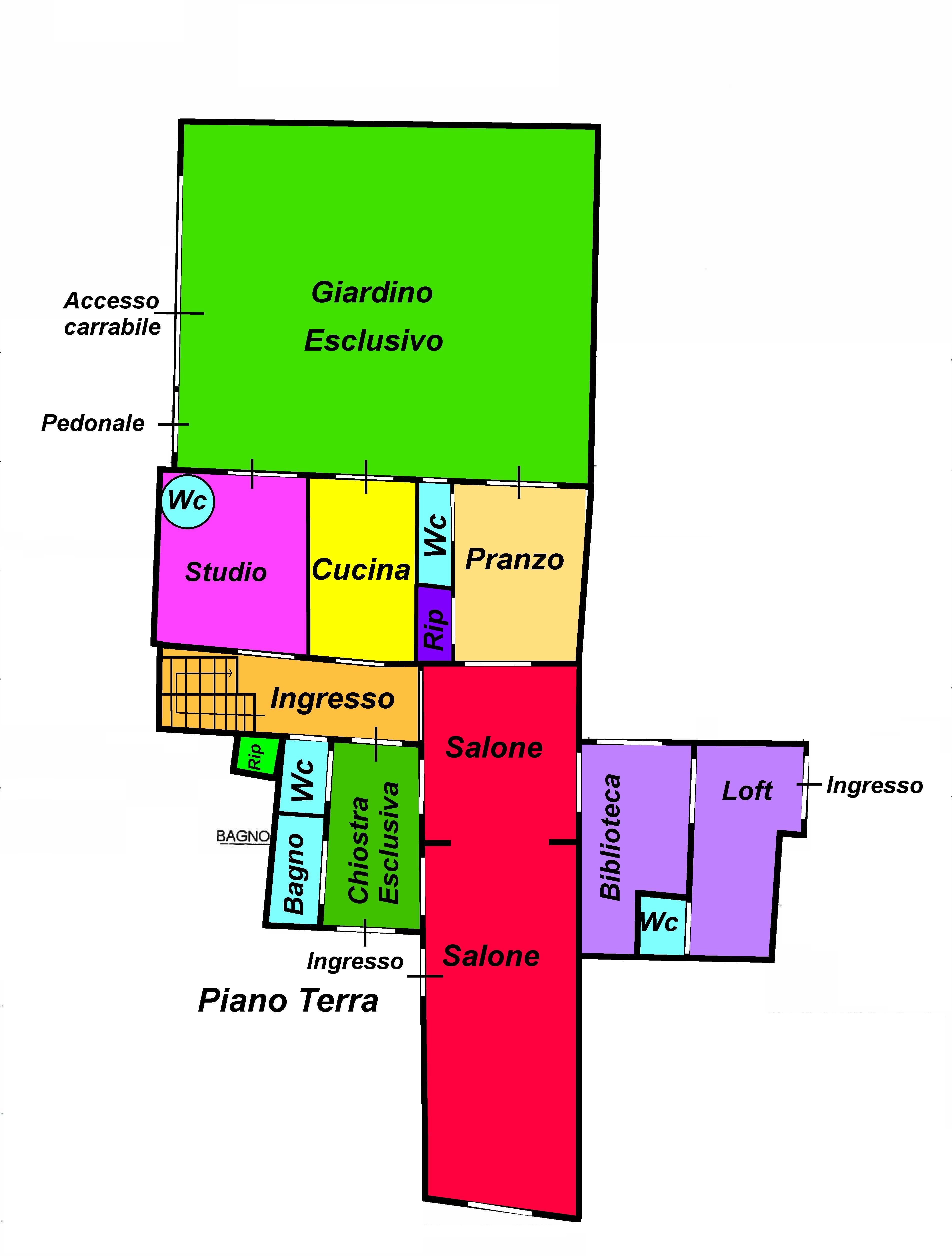 Planimetria 1/2 per rif. 754