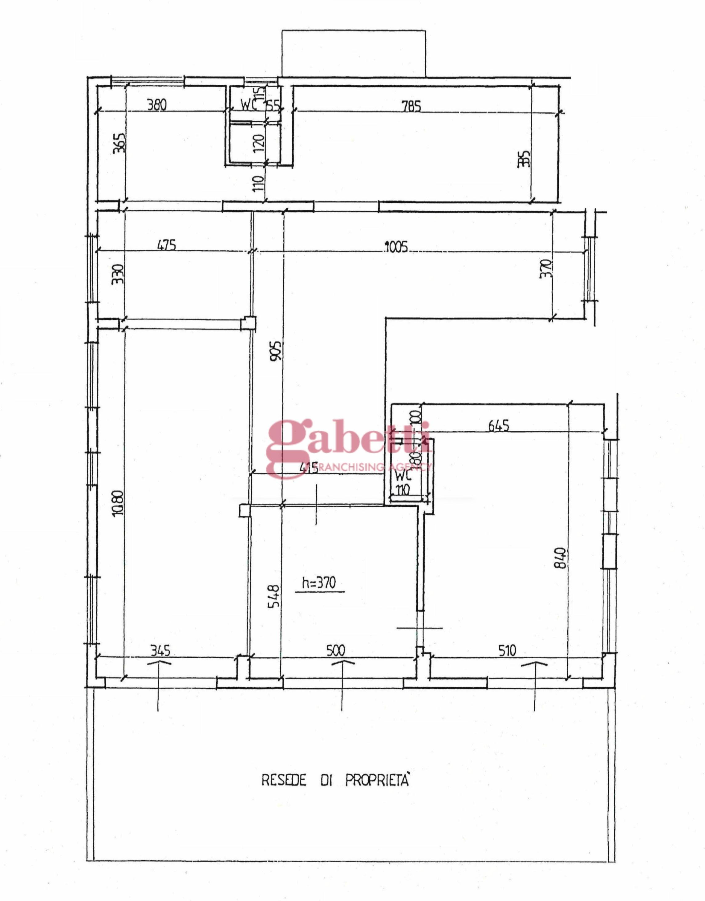 Planimetria 1/1 per rif. L110