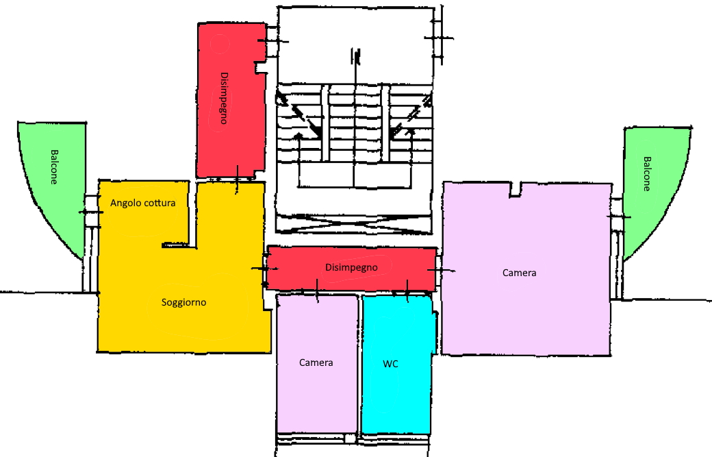 Planimetria 1/1 per rif. 201.
