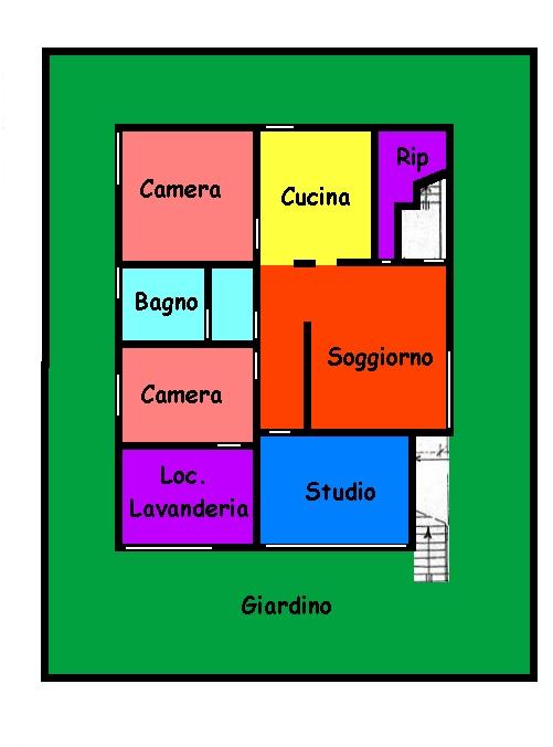 Planimetria 1/2 per rif. 591A