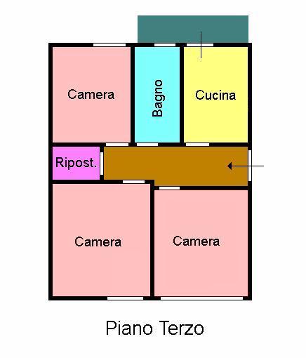 Planimetria 1/1 per rif. L132.