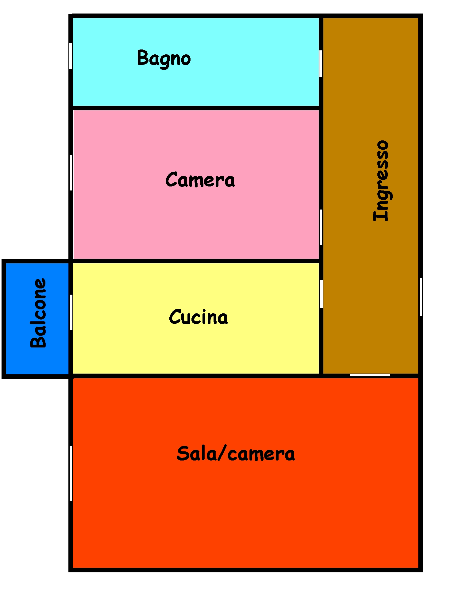 Planimetria 1/1 per rif. 185L