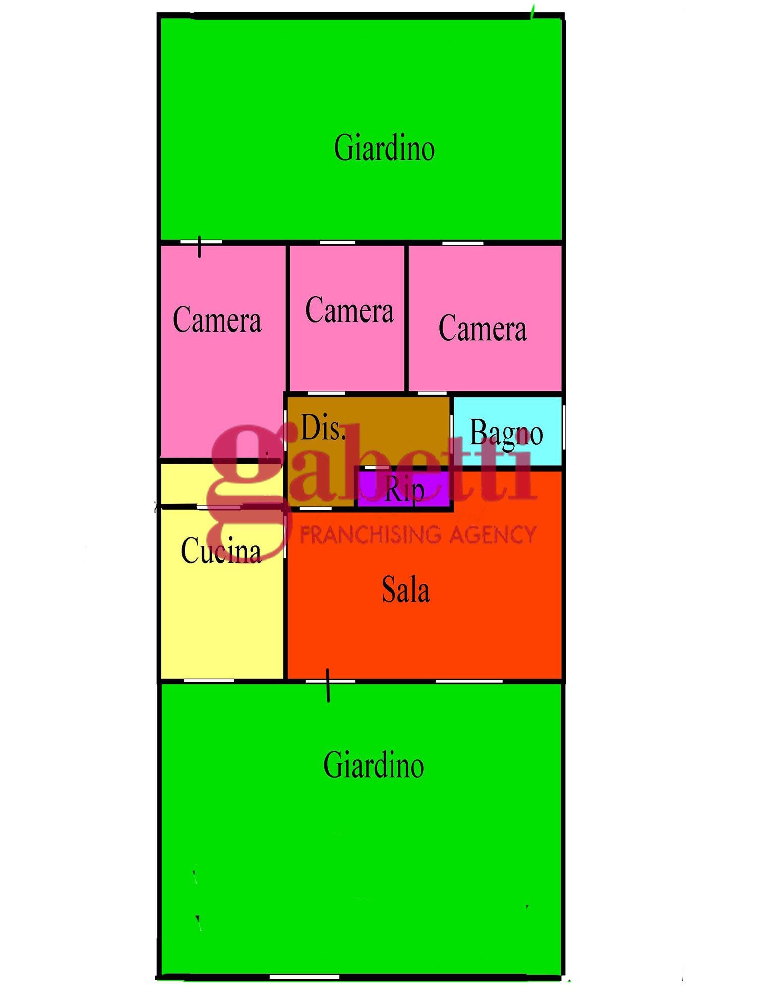 Planimetria 1/1 per rif. L168g