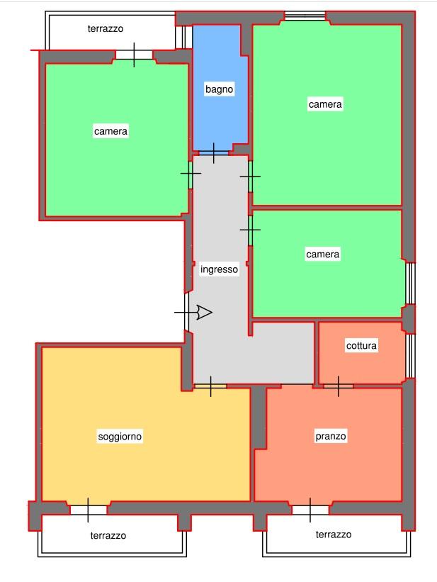 Planimetria 1/1 per rif. 175S