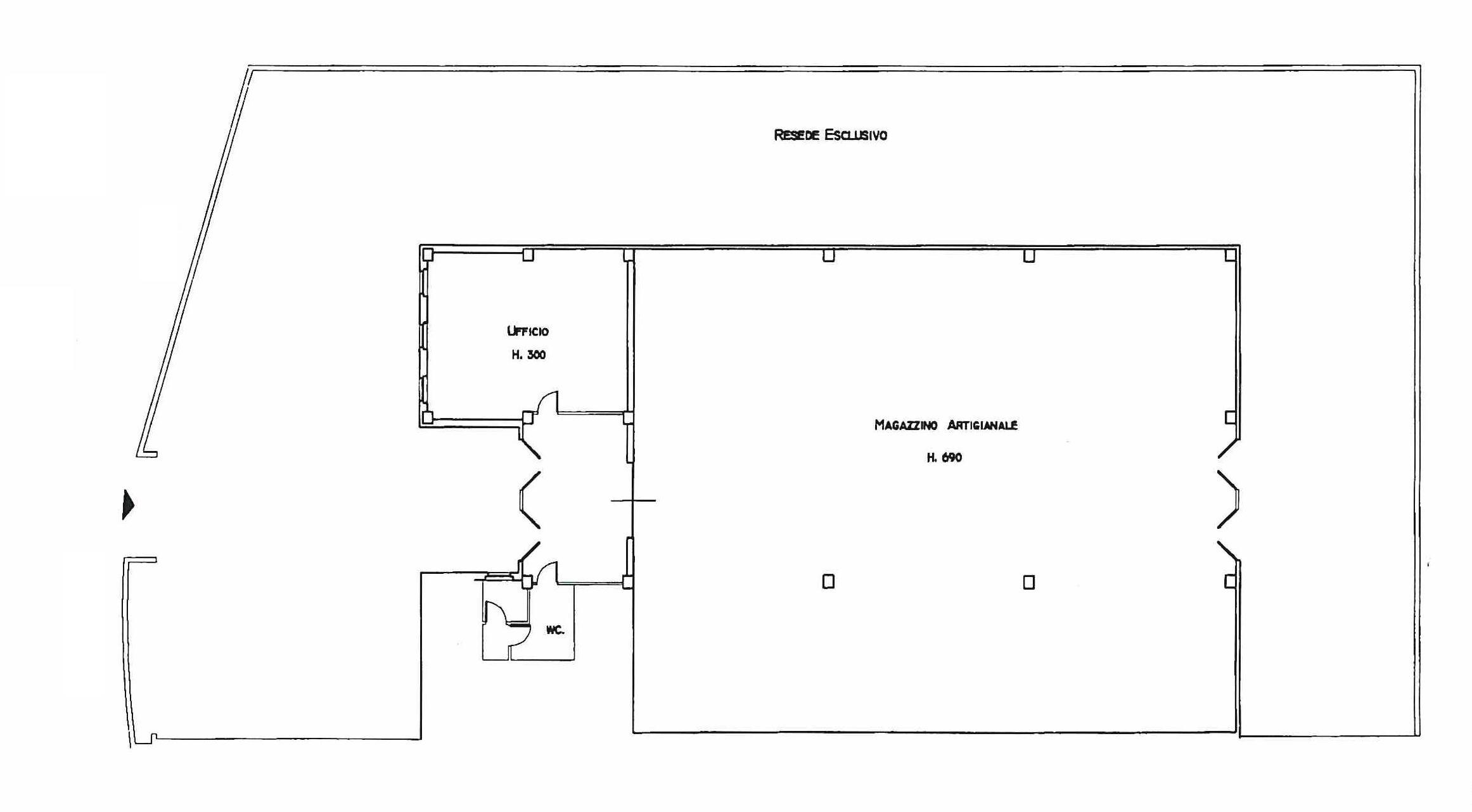 Planimetria 1/1 per rif. 390L
