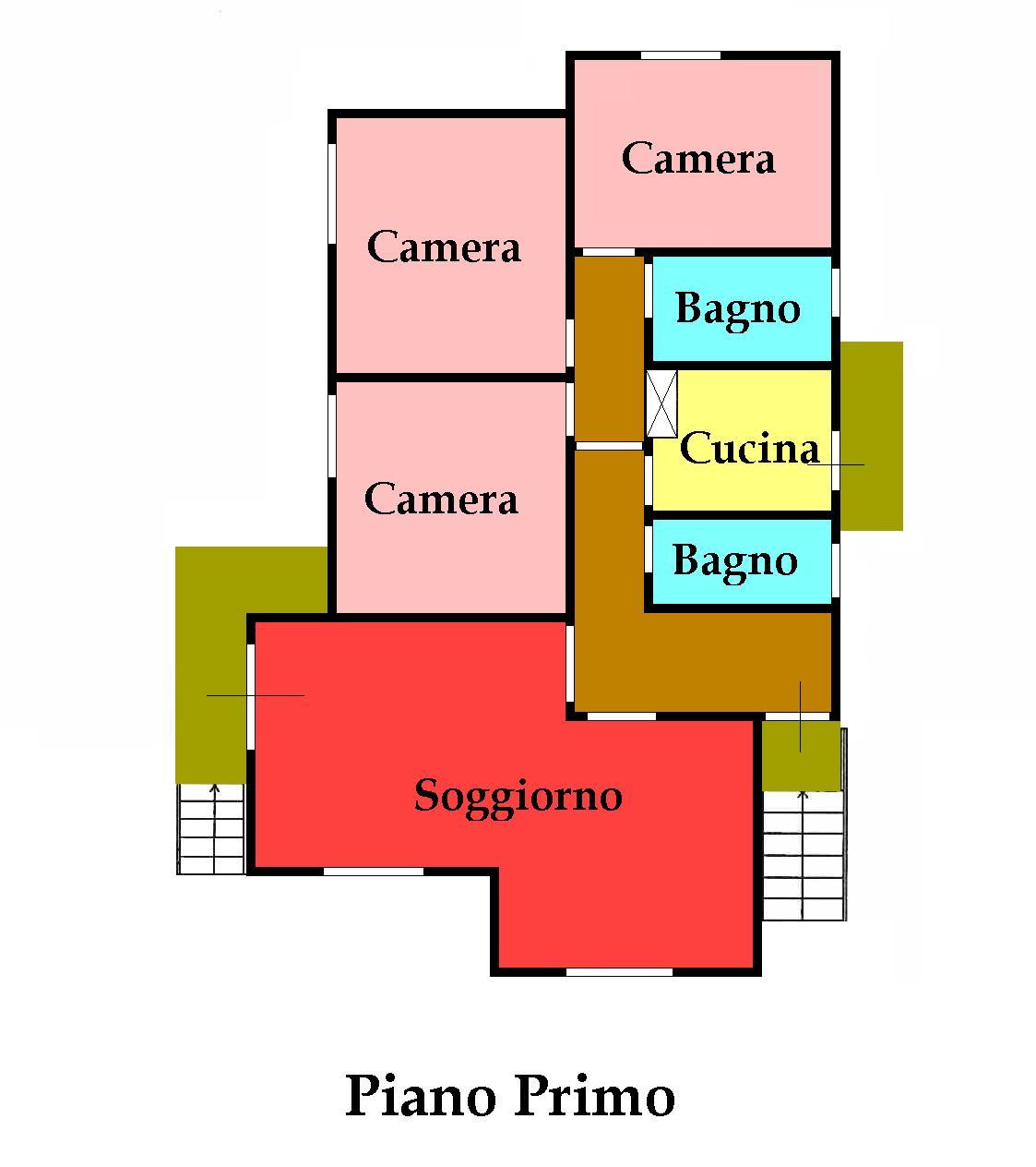Planimetria 1/2 per rif. 595