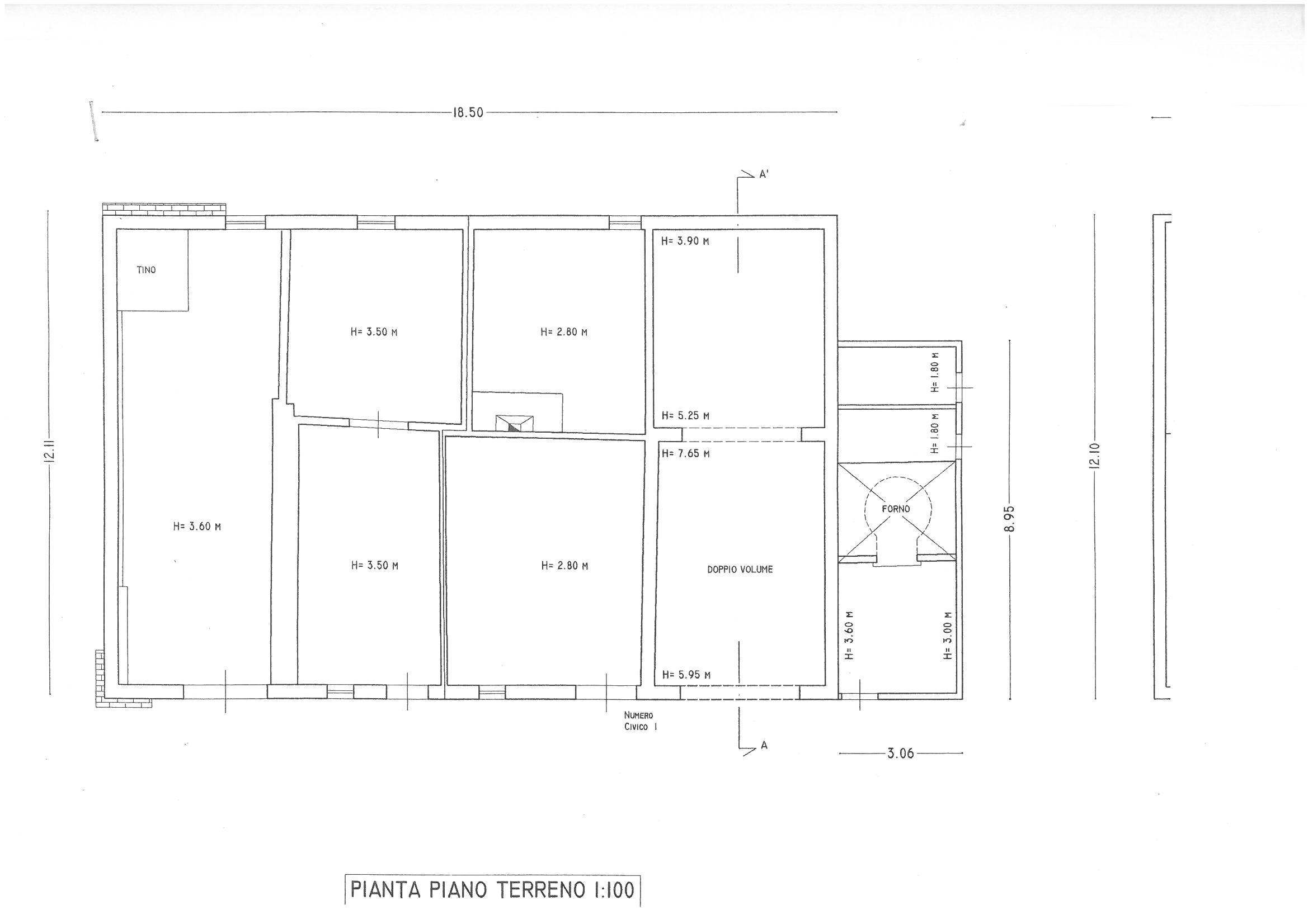 Planimetria 1/3 per rif. S474