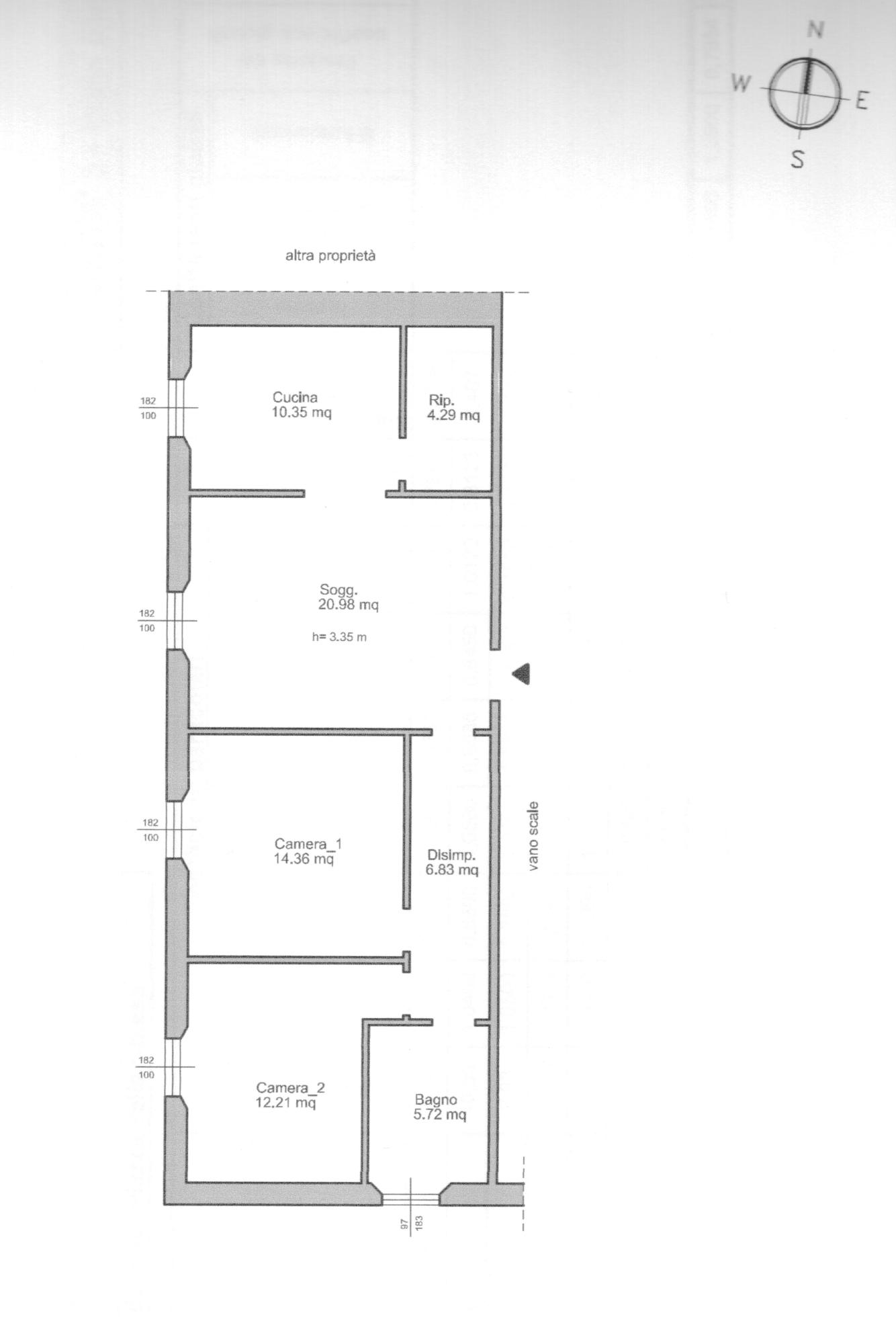 Planimetria 1/1 per rif. B1480