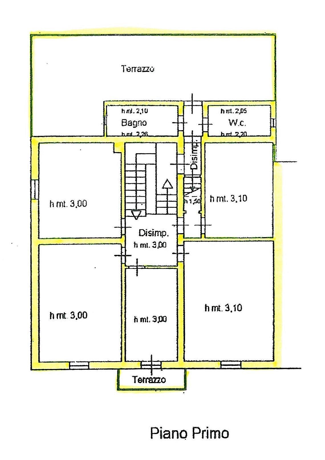 Planimetria 1/4 per rif. S775