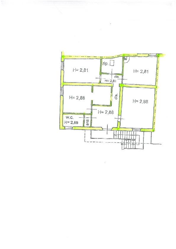 Planimetria 1/3 per rif. S1403