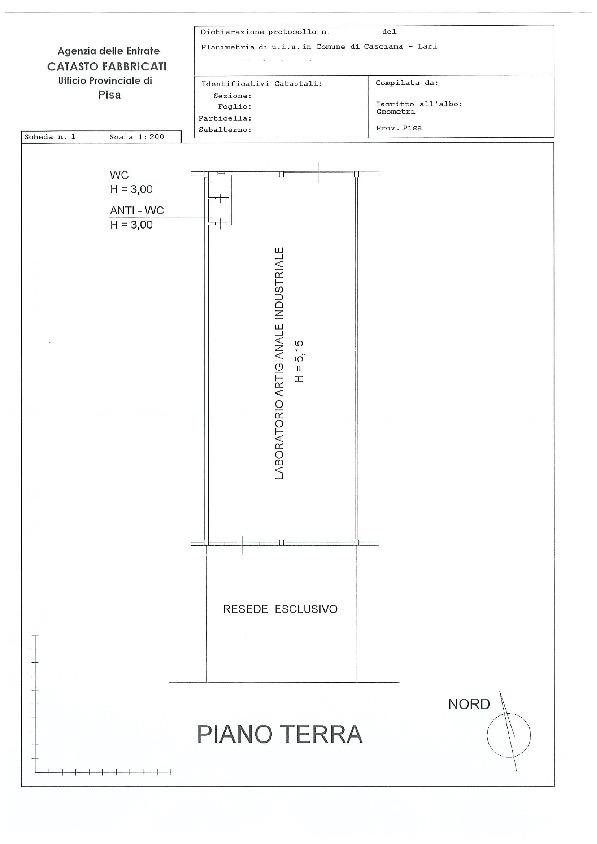 Planimetria 1/1 per rif. B2919