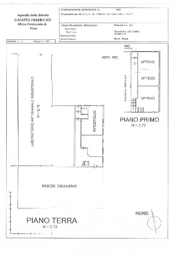 Planimetria 1/1 per rif. B2920