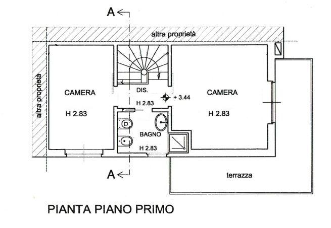 Planimetria 1/3 per rif. 143