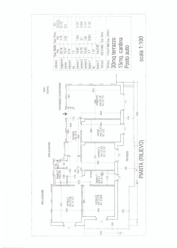 Planimetria /2 per rif. MAL163