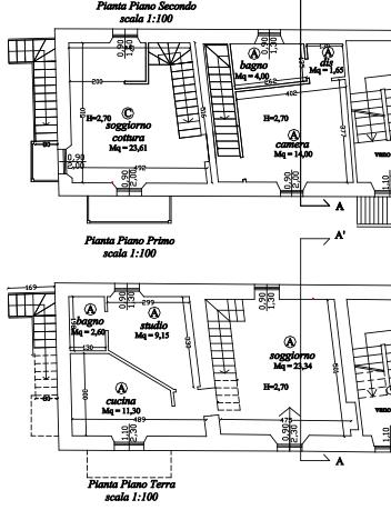 Planimetria 1/2 per rif. MLS-257