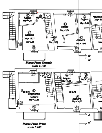 Planimetria 1/2 per rif. MAL171
