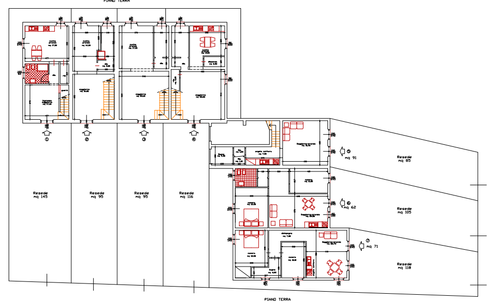 Planimetria 1/4 per rif. 399