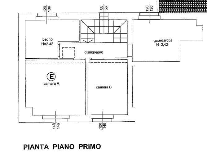Planimetria 1/3 per rif. 646