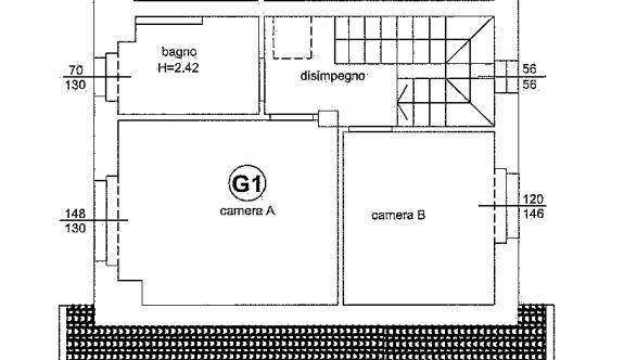 Planimetria 1/4 per rif. 648
