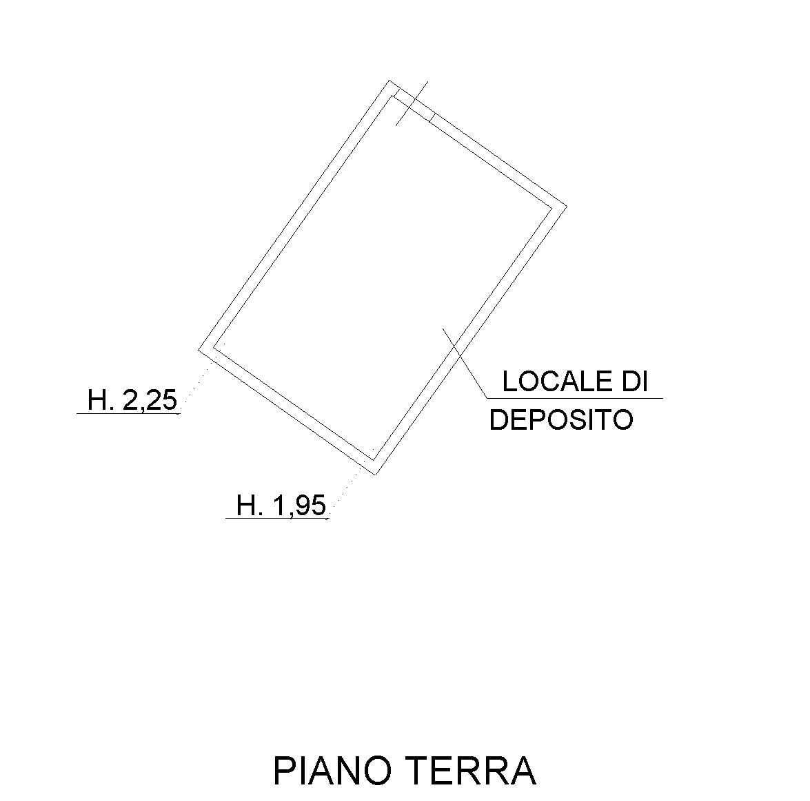 Planimetria 3/4 per rif. SB234