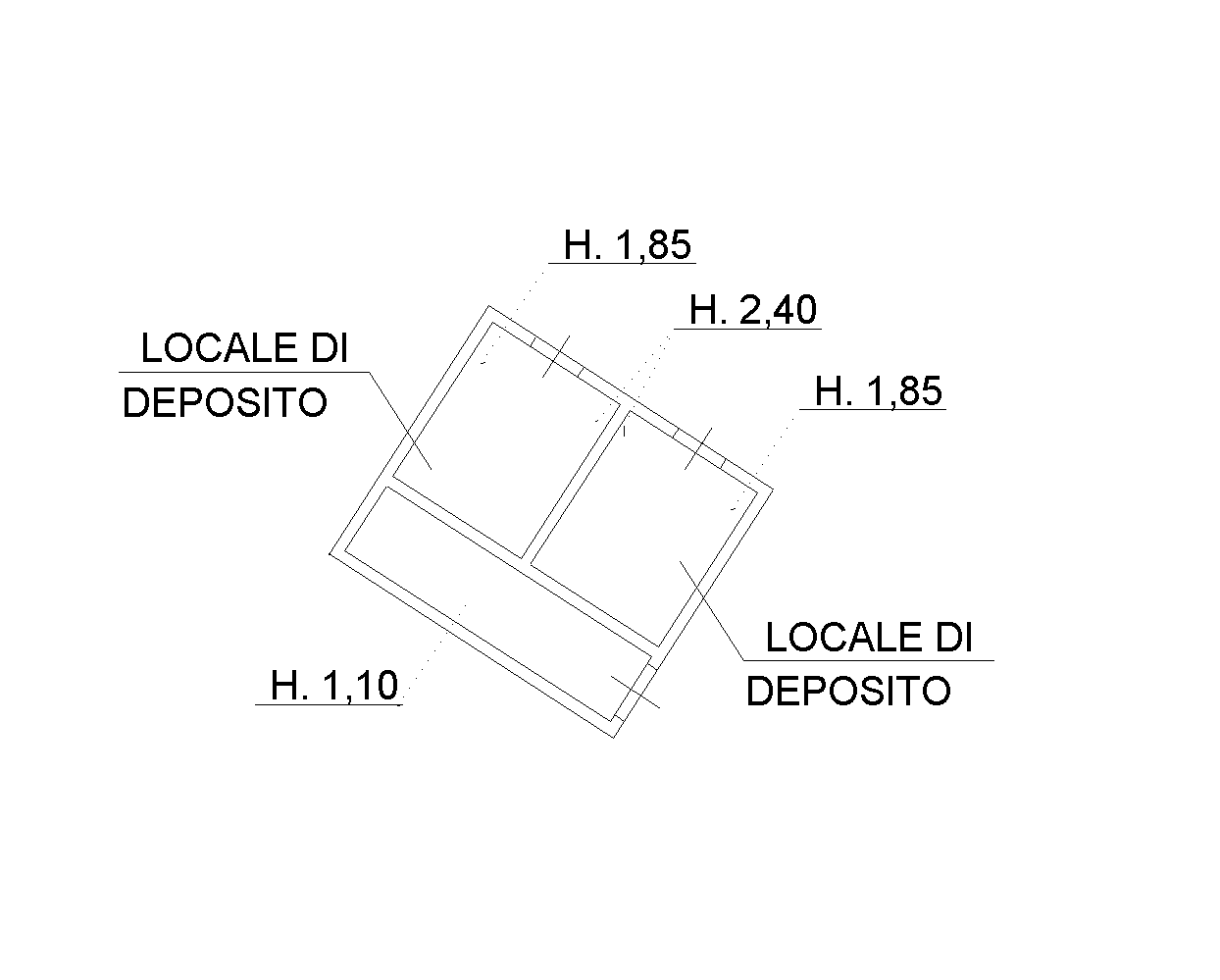 Planimetria 2/4 per rif. SB234