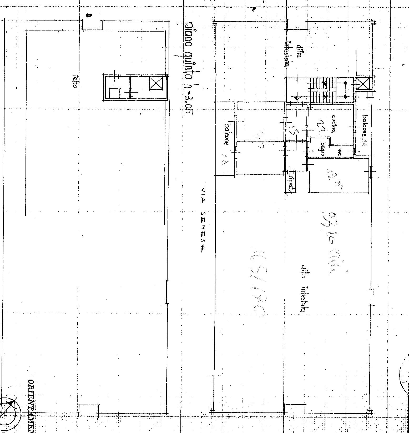Planimetria 1/1 per rif. sb240