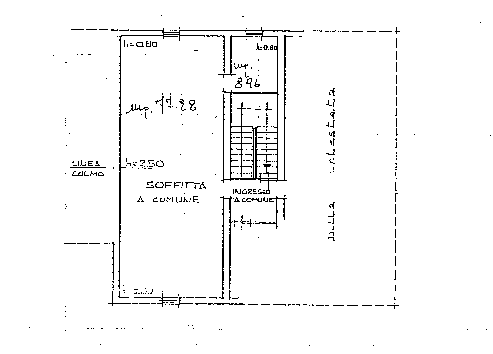 Planimetria 1/2 per rif. SB252