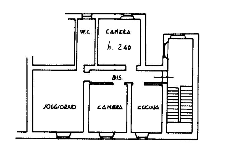 Planimetria 1/1 per rif. A401