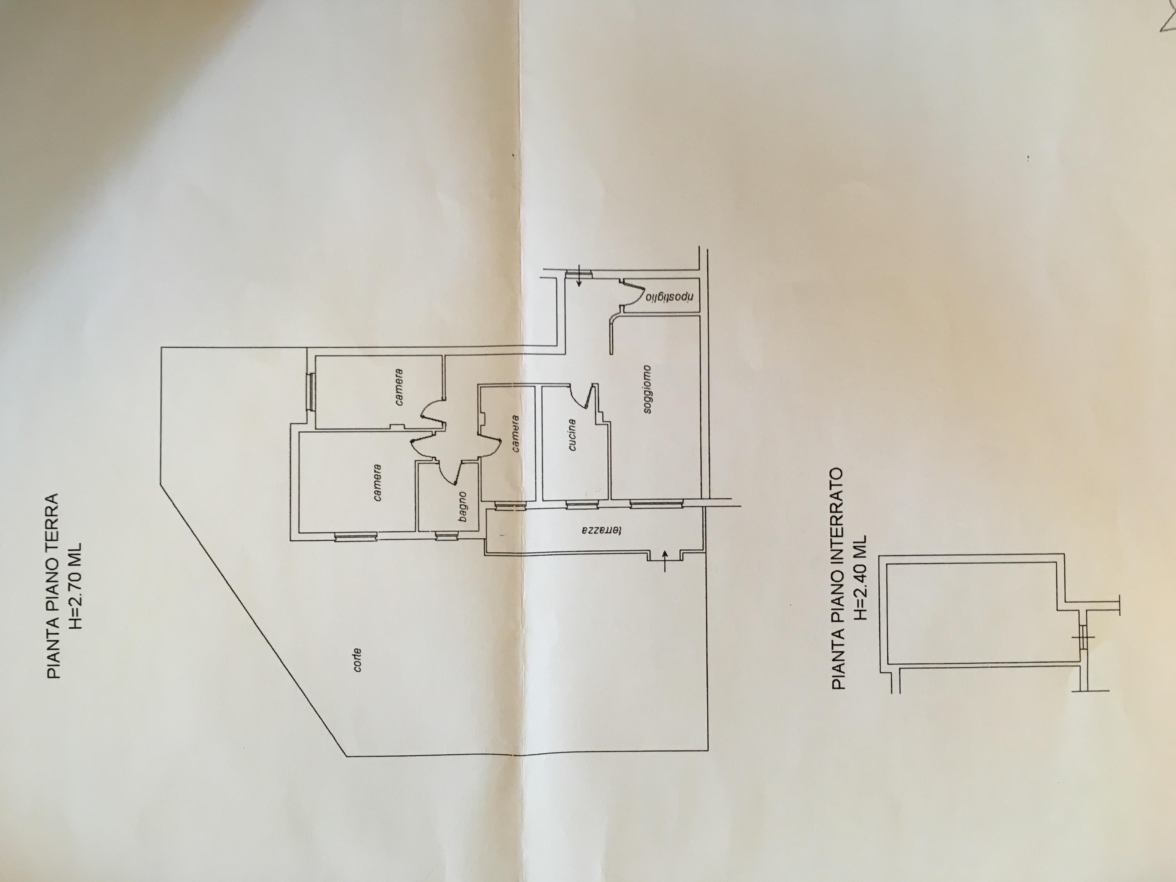 Planimetria 1/1 per rif. A968