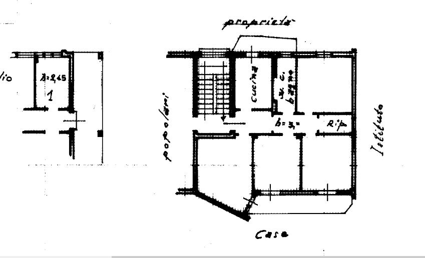 Planimetria 1/1 per rif. A993