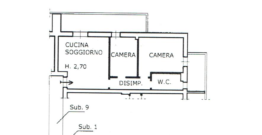 Planimetria 1/1 per rif. A1110