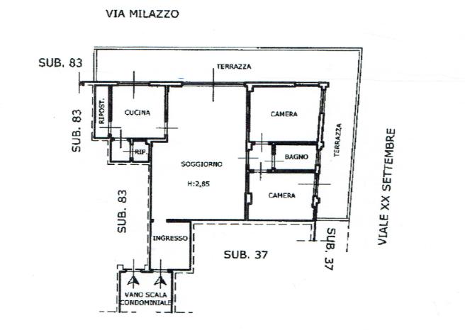 Planimetria 1/1 per rif. A1053