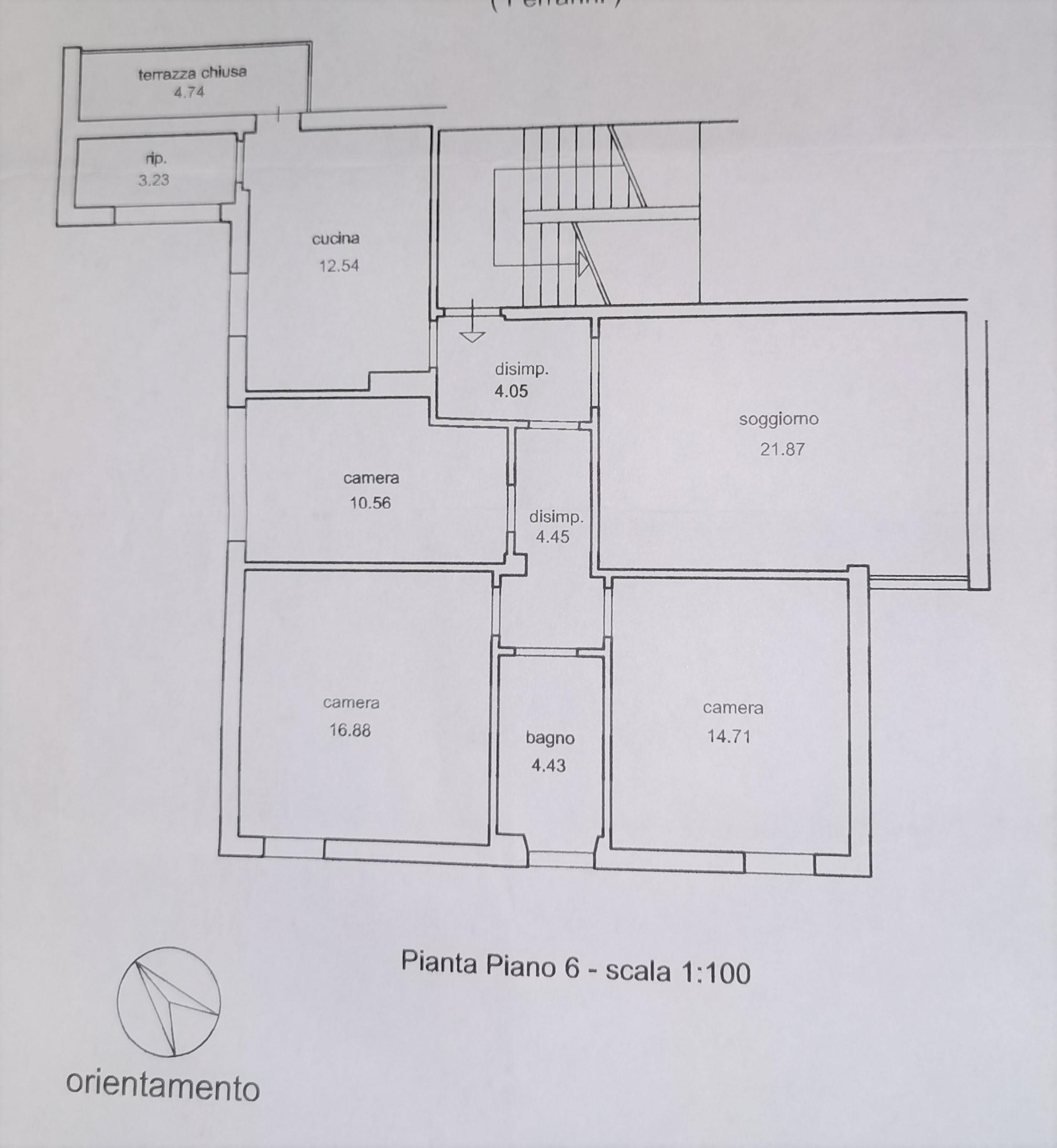 Planimetria 1/1 per rif. A1060