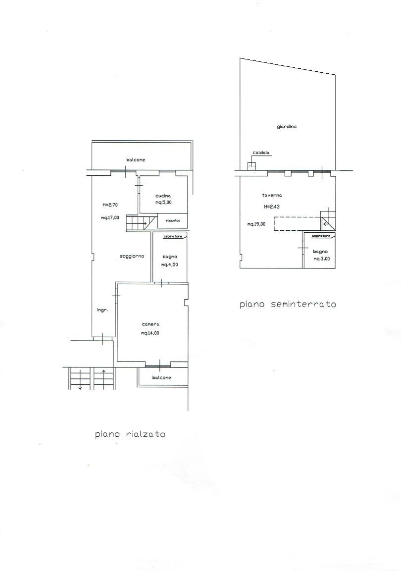 Planimetria 1/1 per rif. A1061