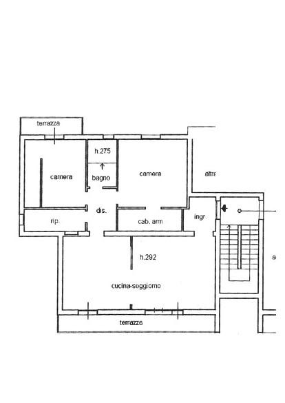 Appartamento in vendita, rif. 155 (Planimetria 1/1)