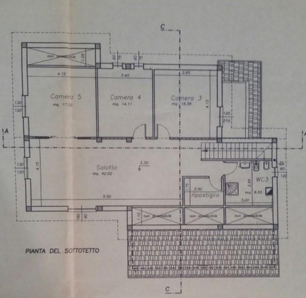 Villa singola in vendita, rif. 300628 (Planimetria 2/2)