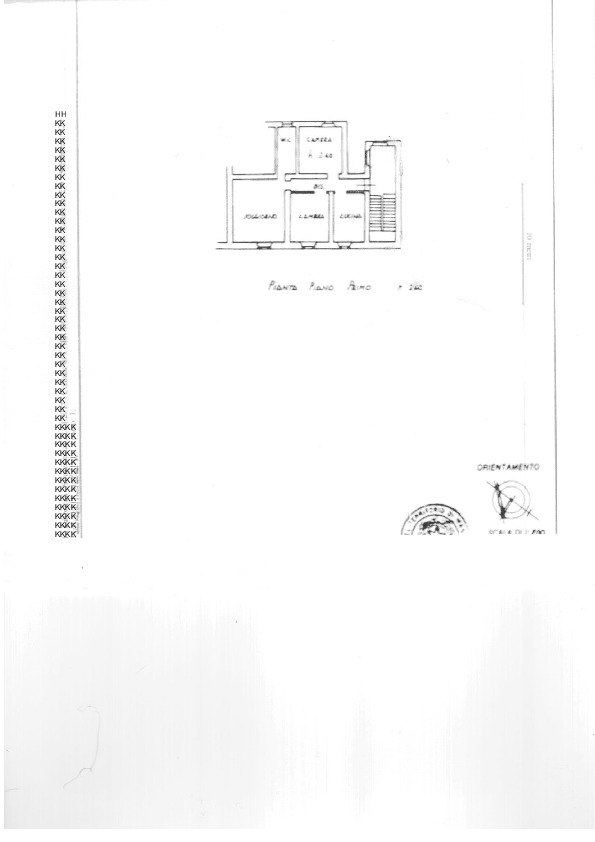 Planimetria 1/1 per rif. 1736