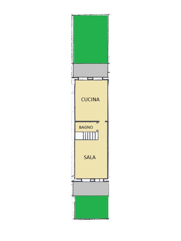 Villetta a schiera in vendita, rif. 95 (Planimetria 1/2)