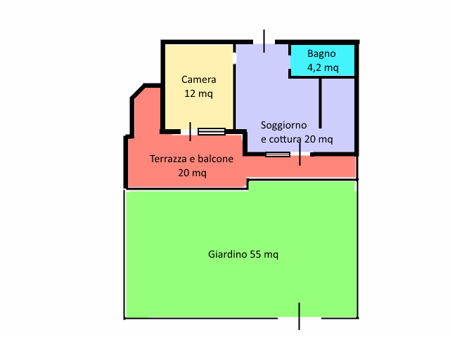 Appartamento in vendita, rif. 411 (Planimetria 1/1)
