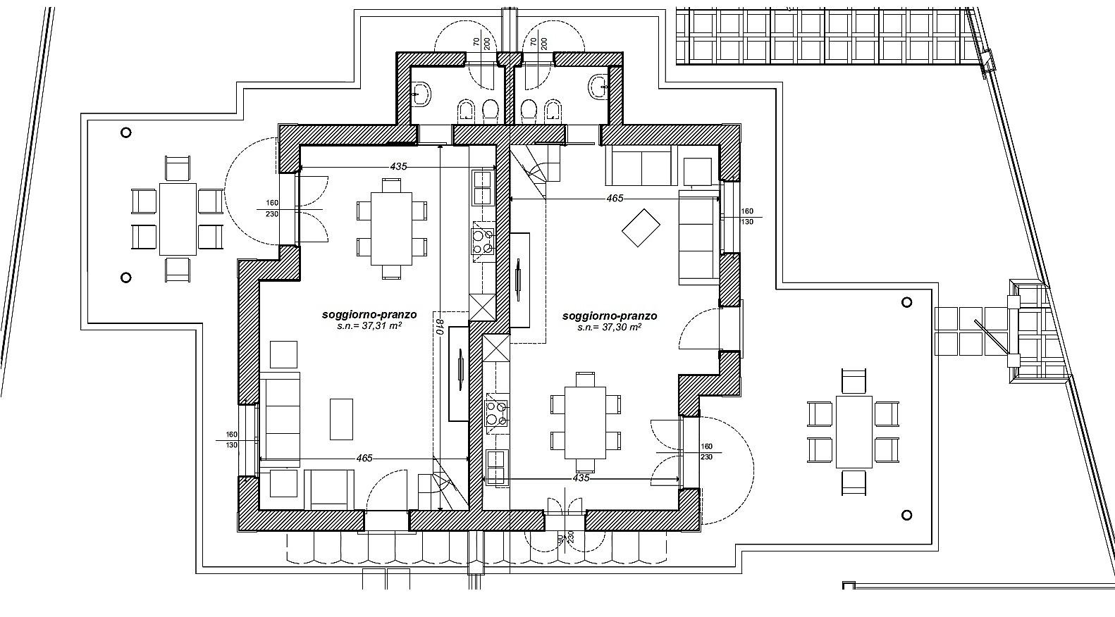 Villetta bifamiliare in vendita, rif. 505 (Planimetria 1/3)