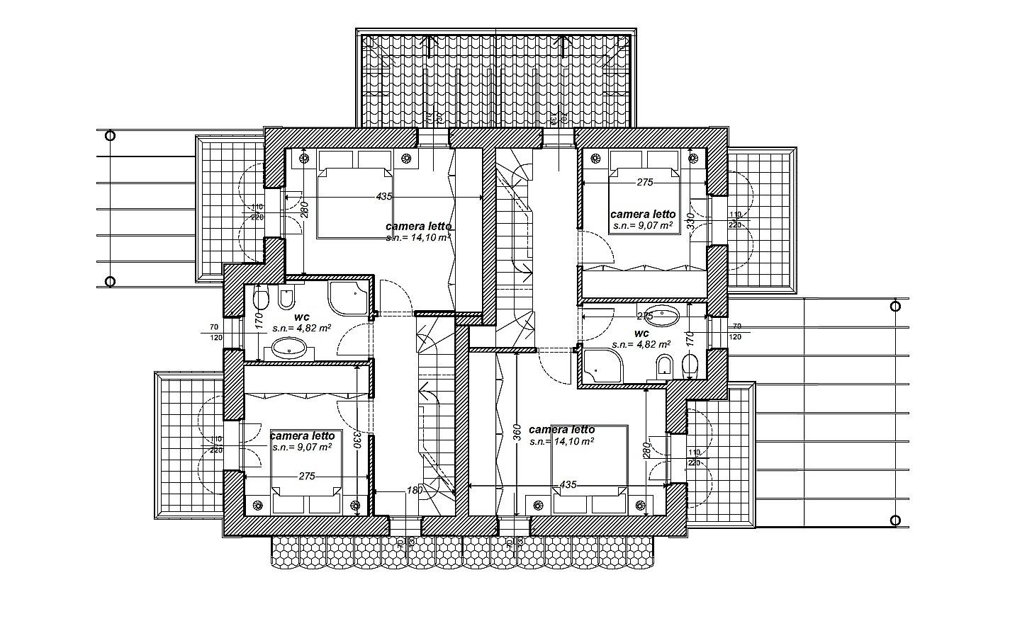 Villetta bifamiliare in vendita, rif. 505 (Planimetria 2/3)