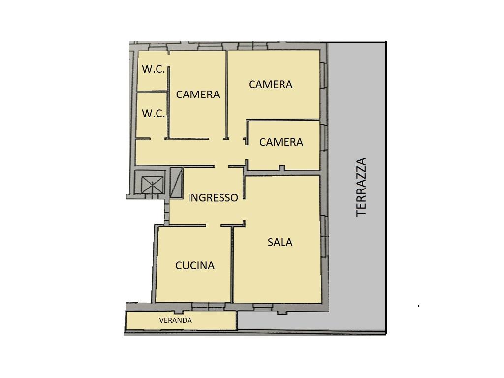 Attico in vendita, rif. 566 (Planimetria 1/1)